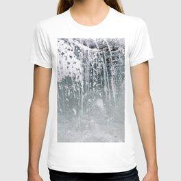 Ice. Close up background. T-shirt