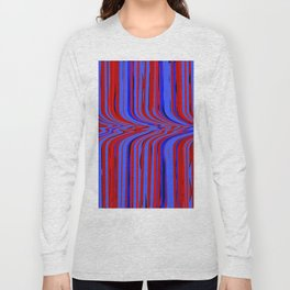 red and blue flowing Long Sleeve T-shirt
