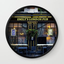 Emily's London Pub Wall Clock