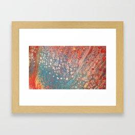 iridescent swipe Framed Art Print
