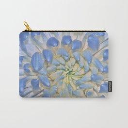 Blue Chrysathemum Carry-All Pouch