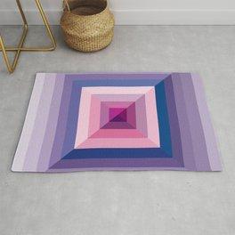 pyramids - purple, blue and pink Rug