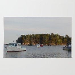 Lobster Boats Rug
