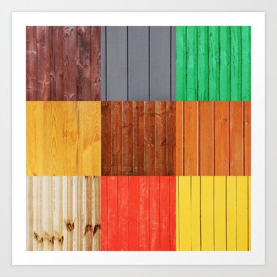 Wood planks Art Print