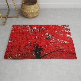 TREES Red Leaves Abundance Rug