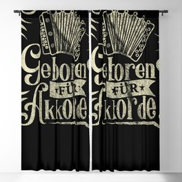 Born for Chords Musicians Accordion Blackout Curtain
