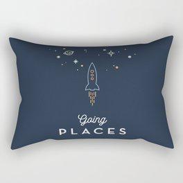 Going Places blue Rectangular Pillow