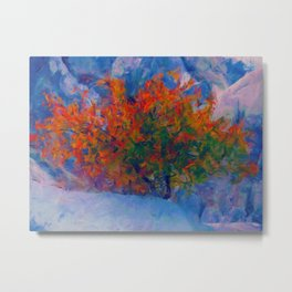 Abstract Autumn Tree Artistic Painting Metal Print