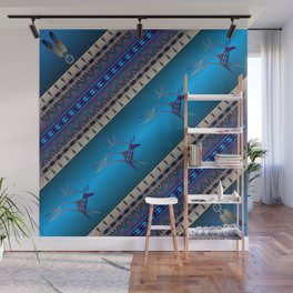 Elk Spirit (Blue) Wall Mural