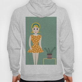 fashioned girl in the 60s Hoody
