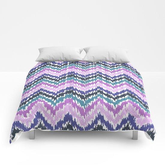 Ikat Chevron Comforters