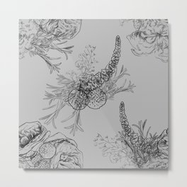 BOUQUET -pattern Metal Print