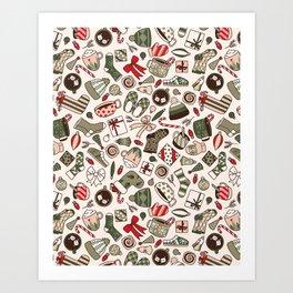 A Cozy Christmas Morning Art Print