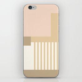 Sol Abstract Geometric Print in Tan iPhone Skin