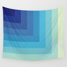 The Depth - Blue Abstract Retro Style Stripes 3D Look Wall Tapestry