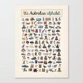 The Australian Alphabet Canvas Print