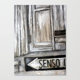 senso unico Canvas Print