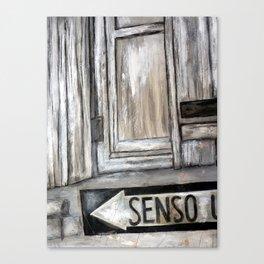 senso unico Canvas Print