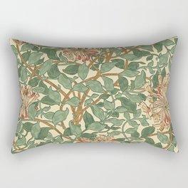 William Morris Honeysuckle Design - Darker Version Rectangular Pillow