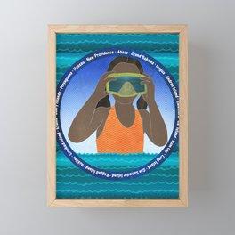 Island Girl Framed Mini Art Print