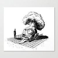 science Canvas Prints featuring Science by Siou Escallon
