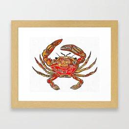 Red Crab Framed Art Print