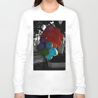 balloon Long Sleeve T-shirts featuring balloon by gzm_guvenc