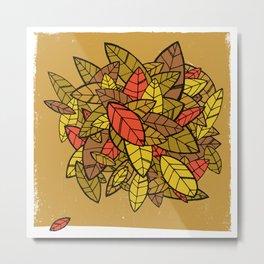 Autumn Memories (a pile of leaves) Metal Print