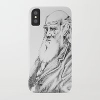 darwin iPhone & iPod Cases featuring Charles Darwin by Noelle Fontaine
