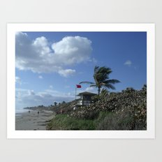 Atlantic Beach Scene, Jupiter, FL 2013 Art Print