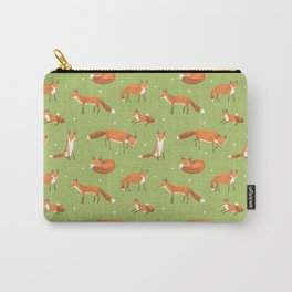 Red Foxes Carry-All Pouch