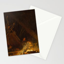 Camp Fire by Winslow Homer, 1880 Stationery Cards