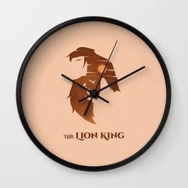 The Lion King Minimalistic Wall Clock
