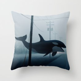 Ocean Wake Throw Pillow