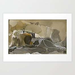 India & Payne Surface Art Print