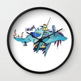 GLO Whale Wall Clock