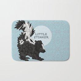 Little Stinker -blue- Bath Mat