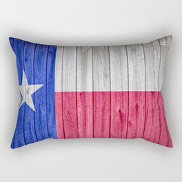Texas State Flag Barn Wall Gifts Rectangular Pillow
