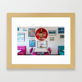 Diner Route 66 Framed Art Print