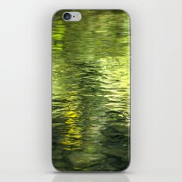Green Water Abstract Art iPhone Skin