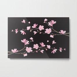 Cherry Blossom - Black Metal Print