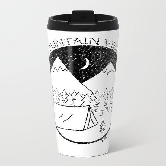 Mountain Vibes Metal Travel Mug