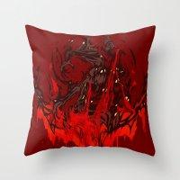 werewolf Throw Pillows featuring Werewolf by Kivapo