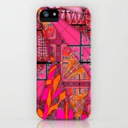 number 232 orange pink pattern iPhone Case