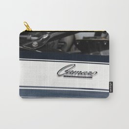 Blue and White Camaro Carry-All Pouch
