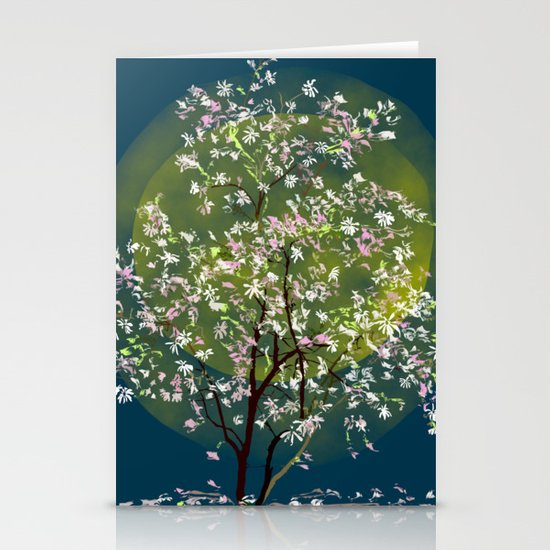 Moonlit Magnolia Stationery Cards
