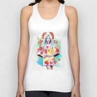 cancer Tank Tops featuring Cancer by Sara Eshak