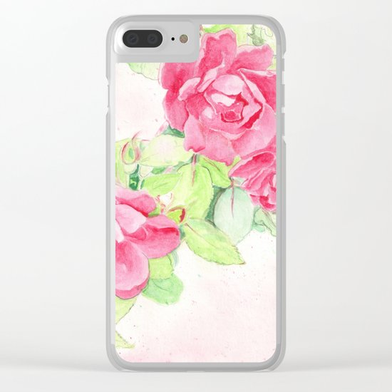 Cafe Roses Clear iPhone Case