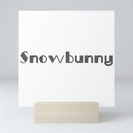 Snowbunny Mini Art Print