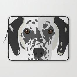 White And Black Dog Laptop Sleeve